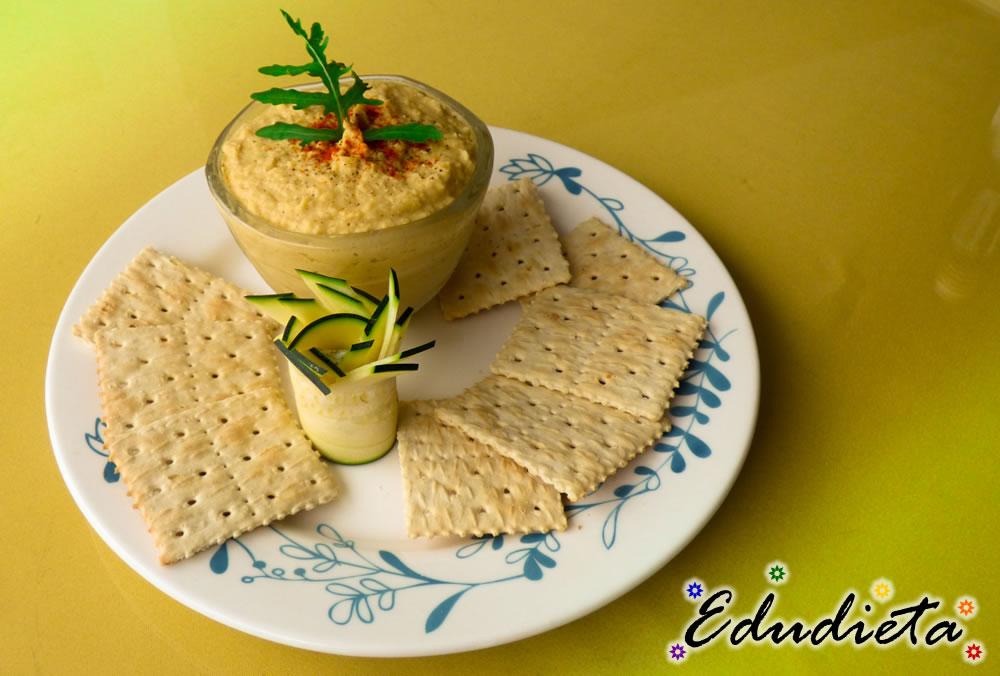 Hummus y Galletas